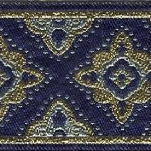 Slip Lead Blue Byzantine Cross