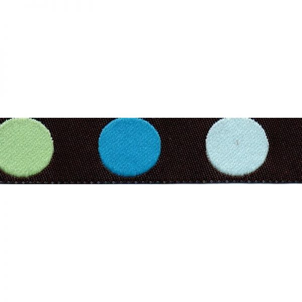 Standard Leash Blue Dots Narrow