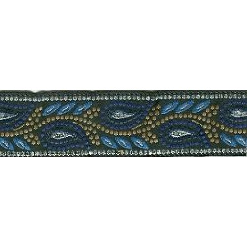 Standard Leash Blue Paisley