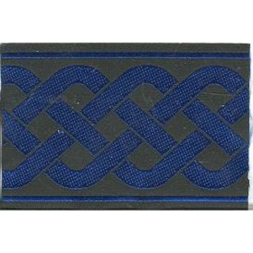 Slip Lead Blue Celtic Weave
