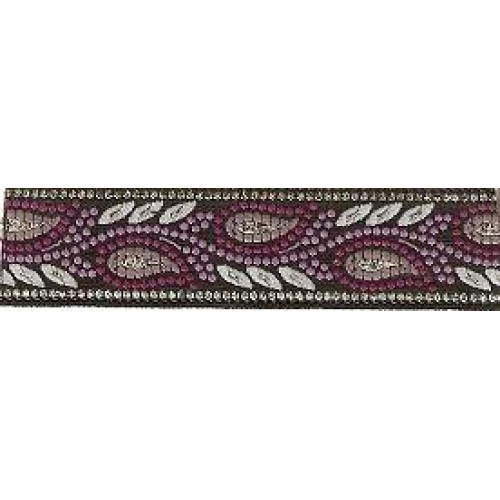 Standard Leash Purple Paisley