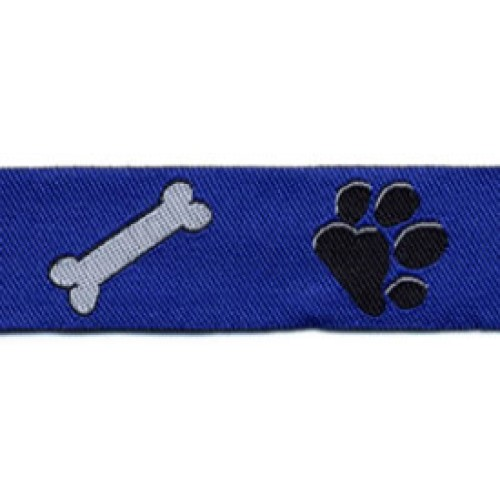 Standard Leash Blue Paws