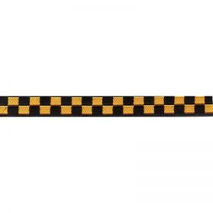 Standard Leash black and Yellow Checkers