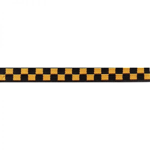 Martingale Leash Black & Yellow Checkers