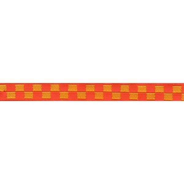 Standard Leash Red and Yellow Checkers