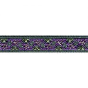 Standard Leash Purple Garden Narrow
